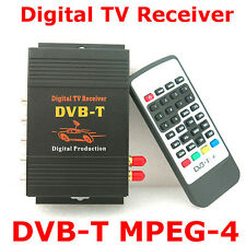 HD DVB-T MPEG4 TV Receiver Box Tuner Dual Antenna Car Mobile Digital Tv Box