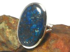 AZURITE   Sterling  Silver  925  Gemstone  RING   -  Size: N  -  Gift Boxed!