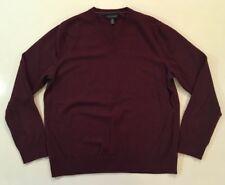 Banana Republic Solid 100% Extra Fine Merino Wool Sweatshirt Sweater V-Neck XL
