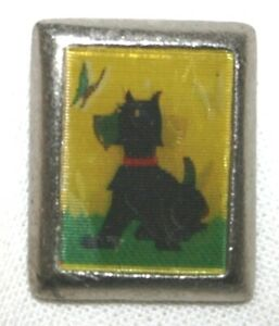 SCOTTIE DOG HOLOGRAM BROOCH