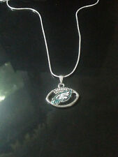 Philadelphia Eagles Necklace Pendant Sterling Silver Chain NFL Football