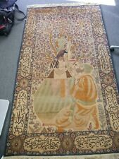 Gorgeous Antique Persian Lavar Rug Carpet Poetry Hand Knotted
