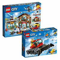 LEGO City Ski Resort Snow Set & Snow Groomer Twin Pack inc 60203 & 60222 Age 6+