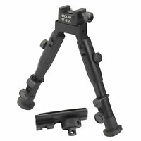 "CCOP USA 6"" Tactical Hunting Picatinny Swivel Stud Mount Mini Bipod BP-59MINI"