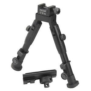 "CCOP USA 6"" Tactical Hunting Picatinny Swivel Stud Mount Mini Bipod BP-59MINI"