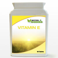 Vitamin E Antioxidant 90 Capsules DL Alpha Tocopherol Made In UK Better Bodies