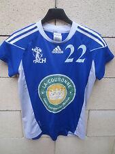 Maillot ACH ANGOULEME handball porté n°22 ADIDAS match worn shirt femme 42 bleu