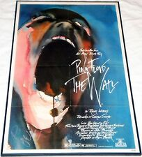 PINK FLOYD ROGER WATERS HAND SIGNED THE WALL ORIGINAL FOLDED MOVIE POSTER! PROOF