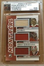 12/13 ITG ULTIMATE - PLANTE ROY PRICE - #3/24 - GENERATIONS JERSEY - IN THE GAME