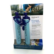 LifeStraw Personal Water Filter for Hiking Camping Travel & Emergency | 2 Pack