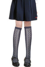 Girls traditional back to school knee high Pelerine cotton Socks 4 colours