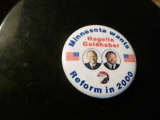 Minnesota Reform Party Pin Back Presidential Campaign Button Hagelin Political