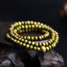 Olive 6mm *108 Sandalwood Buddhist Tibetan Wood Prayer Beads Bracelet /Necklace