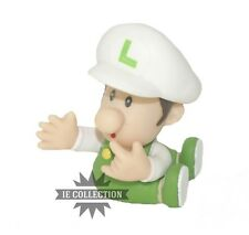 SUPER MARIO BROS. BABY LUIGI FUOCO ACTION FIGURE CAPPELLO BIANCO MINI JR. bb new