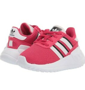 New Adorable Adidas Baby Girl La Trainer Lite Elastic Athletic Shoes Size 4k