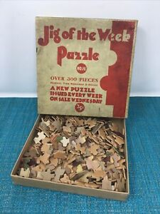 JIG OF THE WEEK Vintage Jigsaw Puzzle #16 BETWEEN TWO FIRES  300+