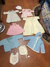 Vintage Child Baby Clothes lot Handmade Crochet Knit 1950's Sweaters & Flannel