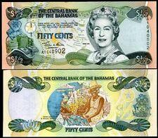 BAHAMAS 1/2 DOLLARS 50 CENTS 2001 P 68 UNC