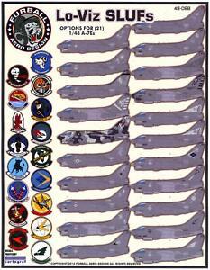 Furball Decals 1/48 L.T.V. A-7E CORSAIR II LO-VIZ SLUFs U.S. Navy Versions