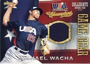 MICHAEL WACHA 2013 TEAM U.S.A. GAME WORN JERSEY ROOKIE CARD #14! CARDINALS