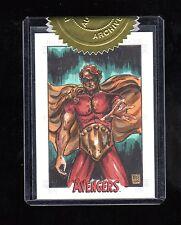 Marvel Avengers Silver Age Melike Acar sketch card