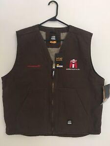 berne mens bark 100% Cotton V-Neck Vest Size XL