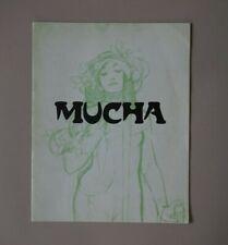 Alphonse MUCHA - Bruxelles - catalogue d'exposition 1974