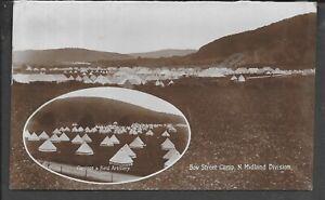 WALES WW1 PPC R/P ABERYSTWYTH BOW STREET CAMP POSTALLY USED 1912