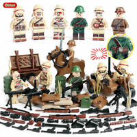 WWII Japan Soldiers Mini Figures Army Military Japanese WW2 War Toy Set Fit Lego