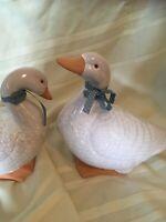 Vintage City Geese House of Lloyd NIB Ceramic Mother Goose Pair Nursery Decor