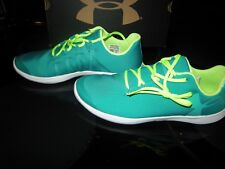 New Girls Two Tone Green Under Armour Ggs Street Precision Low Tennis Shoes 5