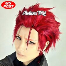 K Project Mikoto Suo Dark Red Short Layered Hair Anime Cosplay Costume Party Wig