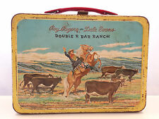 Roy Rogers & Dale Evans Double R Bar Ranch Lunchbox RED by Thermos 1955