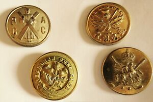 Golf Club Buttons, group of Four Copper Gilt Examples