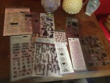 Large Lot Of New Clear Stamps
