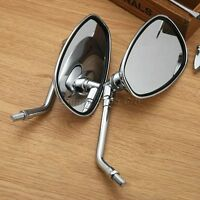10mm Motorcycle Chrome Rearview Mirrors for Honda ST1300A CBR650F CBF1000 VFR750