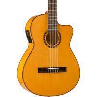 Lucero LFB250Sce Spruce/Cypress Thinline A/E Classical Guitar 194744317156 OB