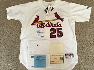 Mark McGwire St Louis Cardinals NWT Rawlings Autograph & Inscribed Jersey + COAs