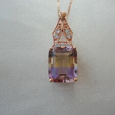 3.36ct Genuine Anahi Ametrine Rose Gold Pendant