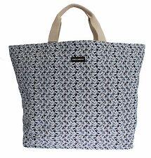 NWT DOLCE & GABBANA Mens Blue Car Print Cotton Denim Hand Shopping Gym Bag