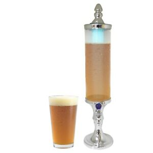 Silver 2 Litre LED Light Beer and Soft Drinks Beverage Dispenser Kitchen Counter