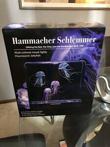 Hypnotic Jellyfish Aquarium Hammacher Schlemmer NEW In Box Automatic Shutoff