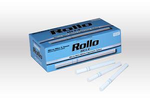 600 MICRO SLIM BLUE EMPTY ROLLO TUBE Cigarrette Tobbacco Filter Ventti