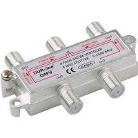 SAT Verteiler 4-fach Splitter BK-SAT 4 Way Splitter Dur-line® D4FV 1x IN 4x OUT