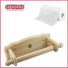 Quality Kitchen Paper Roll Tissue Towel Holder Apollo Wall-Mounted Hevea Wooden