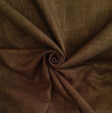 10 Metres Chocolate Canvas Curtain & Upholstery Fabric With Gold Lurex Thread