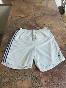 Mens Size Medium Nike Cream And Blue Swimming Trunks