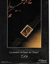 PUBLICITE ADVERTISING 027  1982  S.T Dupont  la montre en laque de Chine