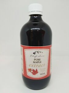 Pure Maple Extact Natural Food Essence 100mL & 500mL Bottles Chef's Choice