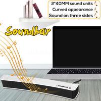 Subwoofer Curved TV Sound Bar Soundbar Speaker USB Audio Stereo For Computer